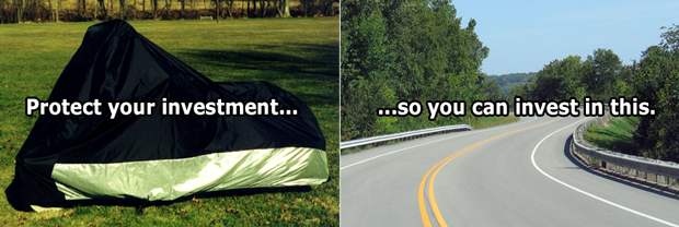 Protect your motorcycle investment so you can invest in the open road with Exigent Bike Covers.